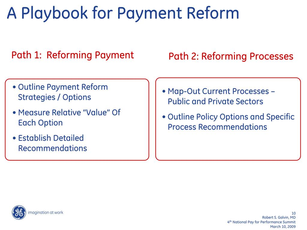 A Playbook for Payment Reform
