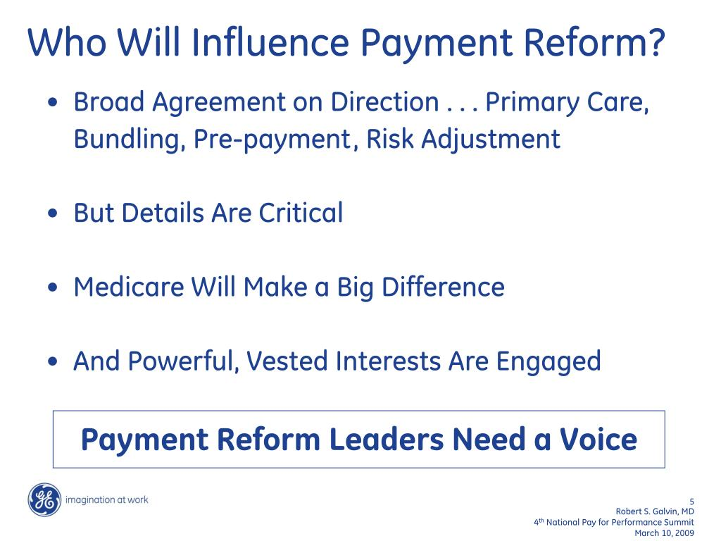 Payment Reform Leaders Need a Voice
