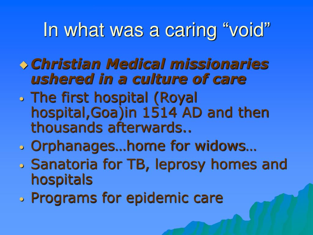 "In what was a caring ""void"""