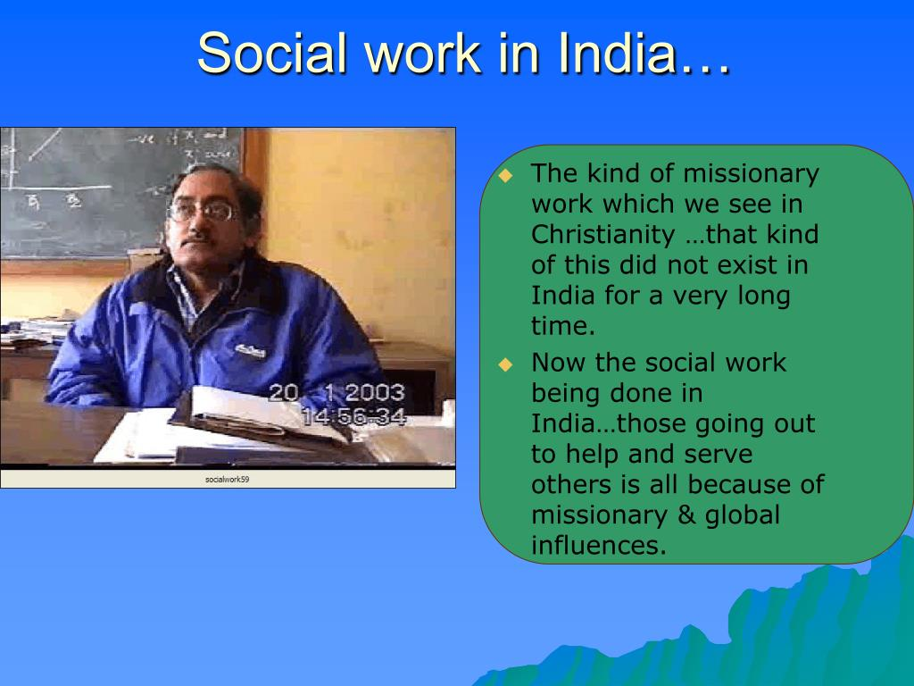 Social work in India…