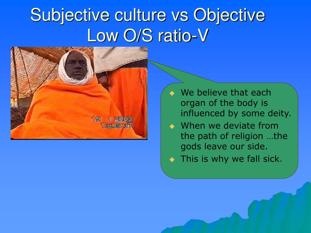 Subjective culture vs Objective