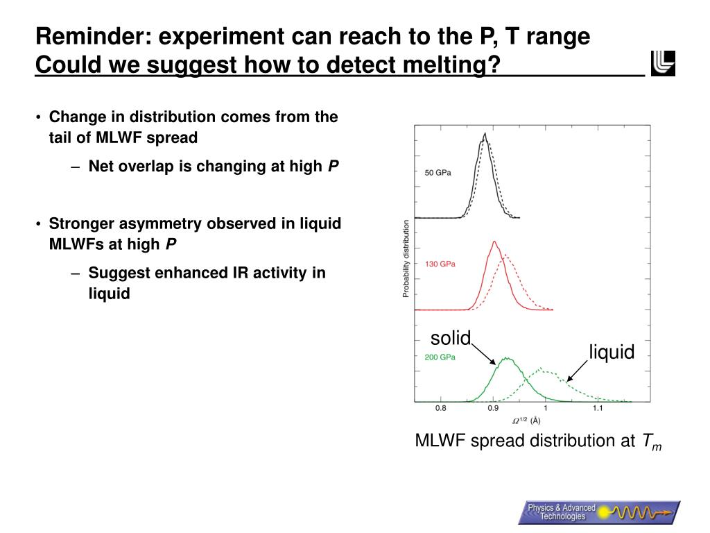 Reminder: experiment can reach to the P, T range