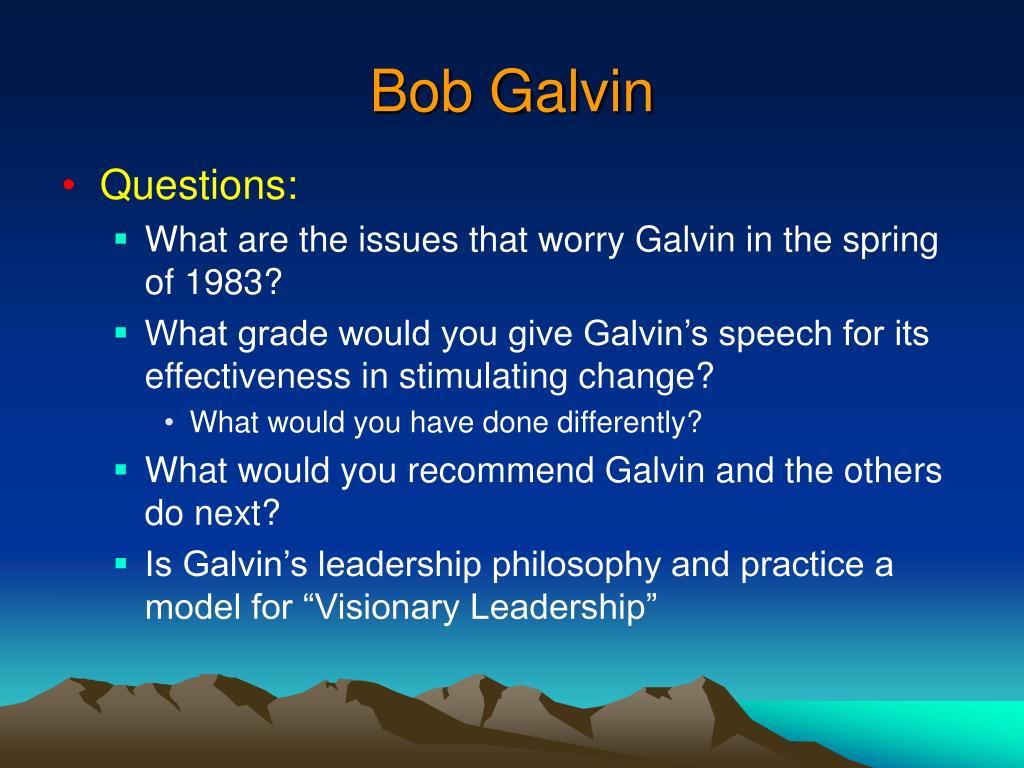 Bob Galvin