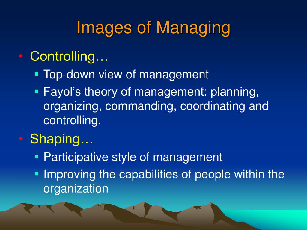 Images of Managing