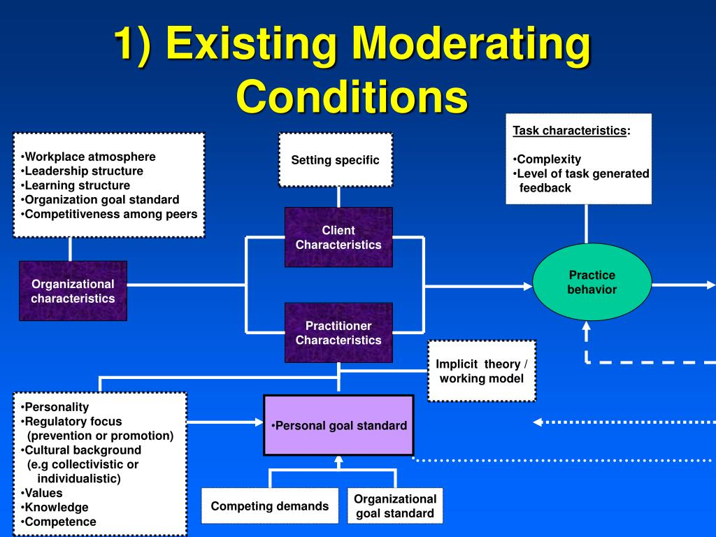 1) Existing Moderating Conditions