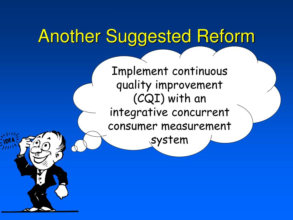 Another Suggested Reform