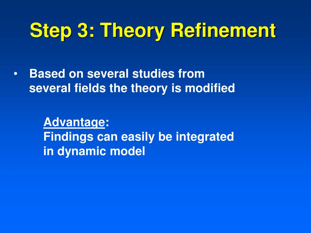 Step 3: Theory Refinement