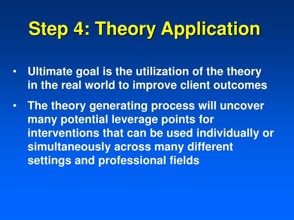 Step 4: Theory Application