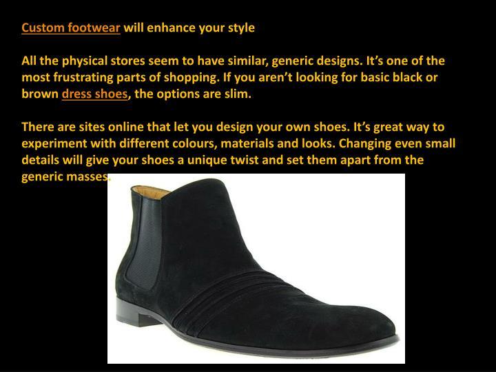 Custom footwear