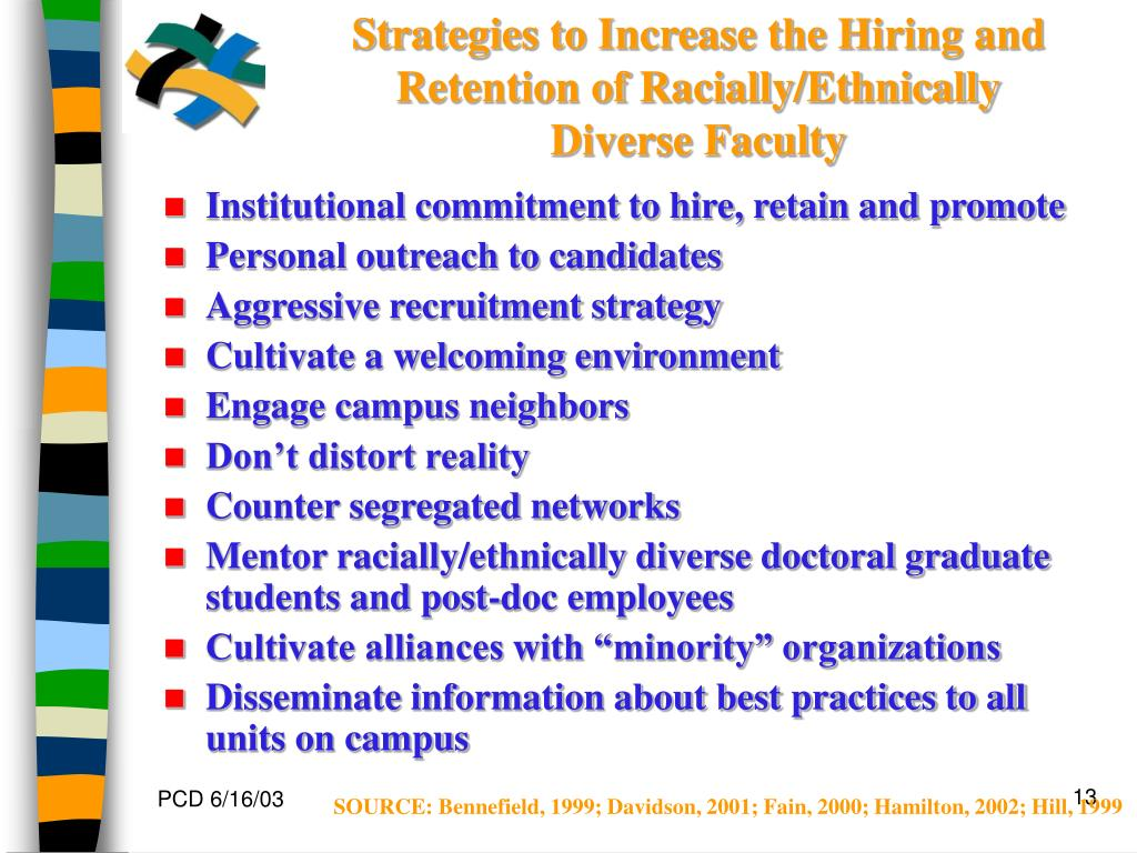 Strategies to Increase the Hiring and Retention of Racially/Ethnically