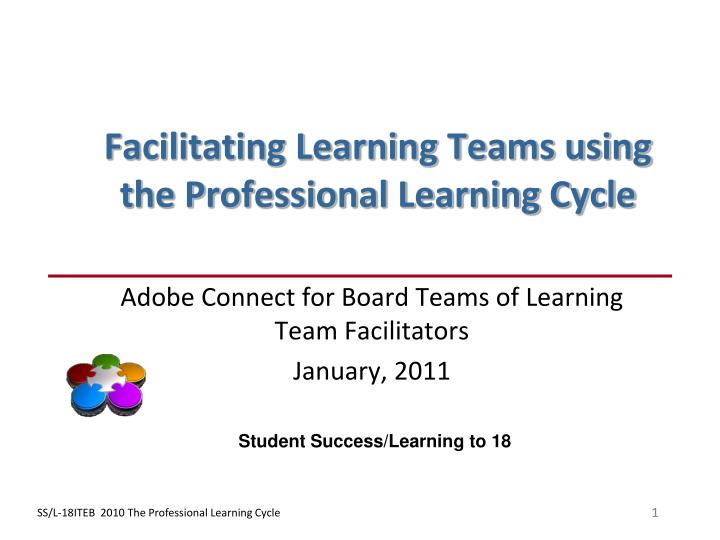 facilitating learning teams using the professional learning cycle n.