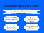 sustaining classroom systems