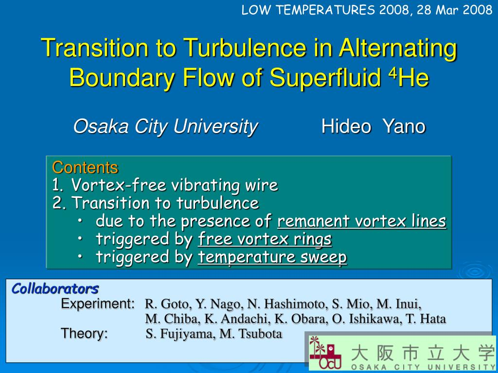 transition to turbulence in alternating boundary flow of superfluid 4 he l.