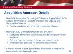 acquisition approach details