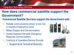 commercial satellite services support the government with