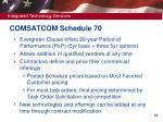 comsatcom schedule 70