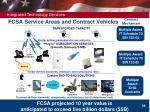 fcsa service areas and contract vehicles