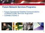 future network services programs