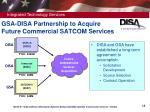 gsa disa partnership to acquire future commercial satcom services