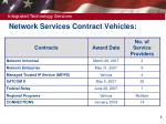 network services contract vehicles