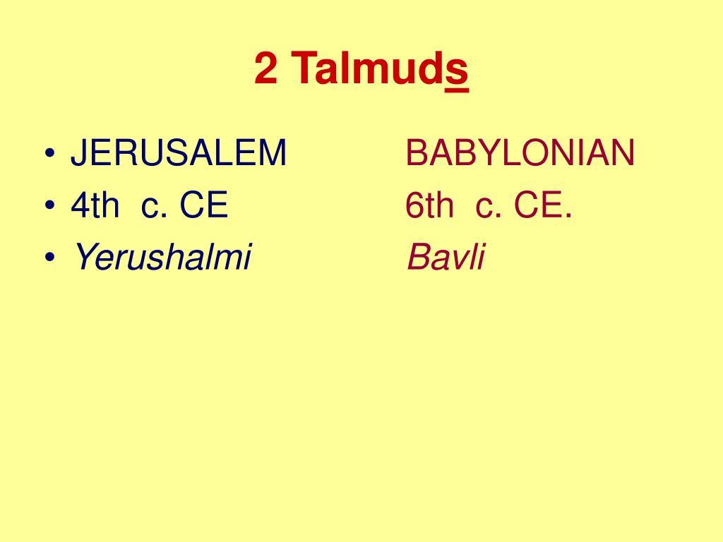 2 Talmud