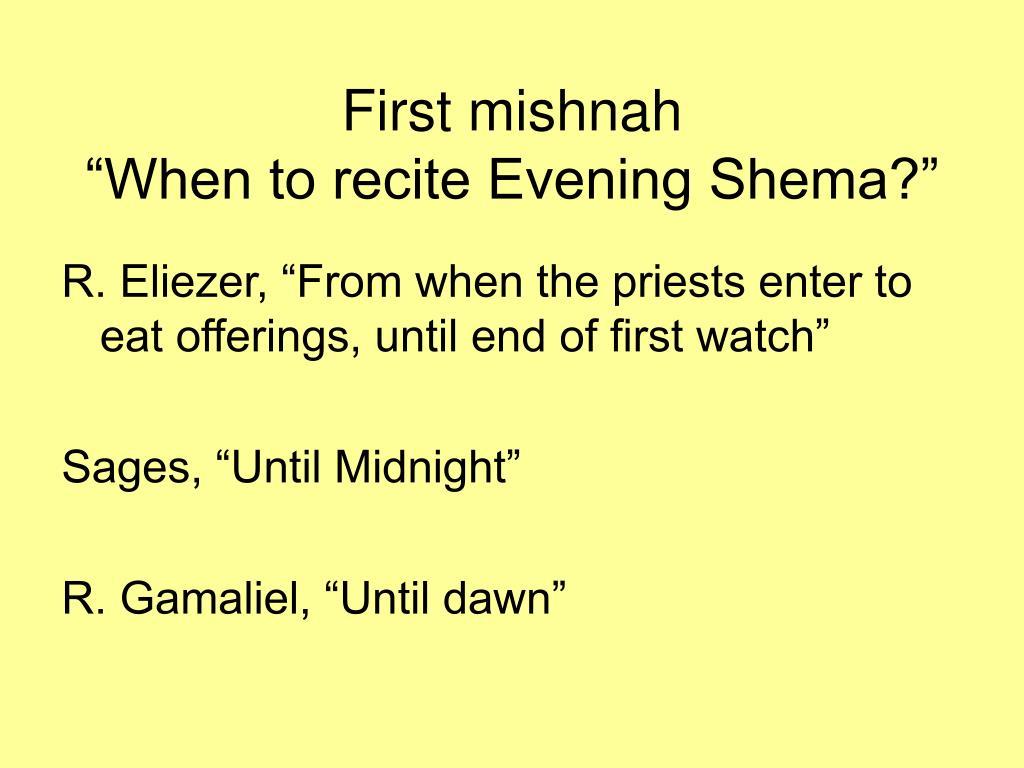 First mishnah