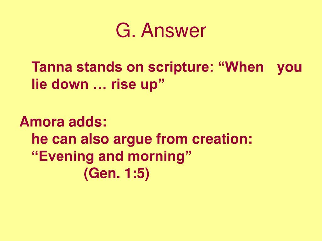 G. Answer