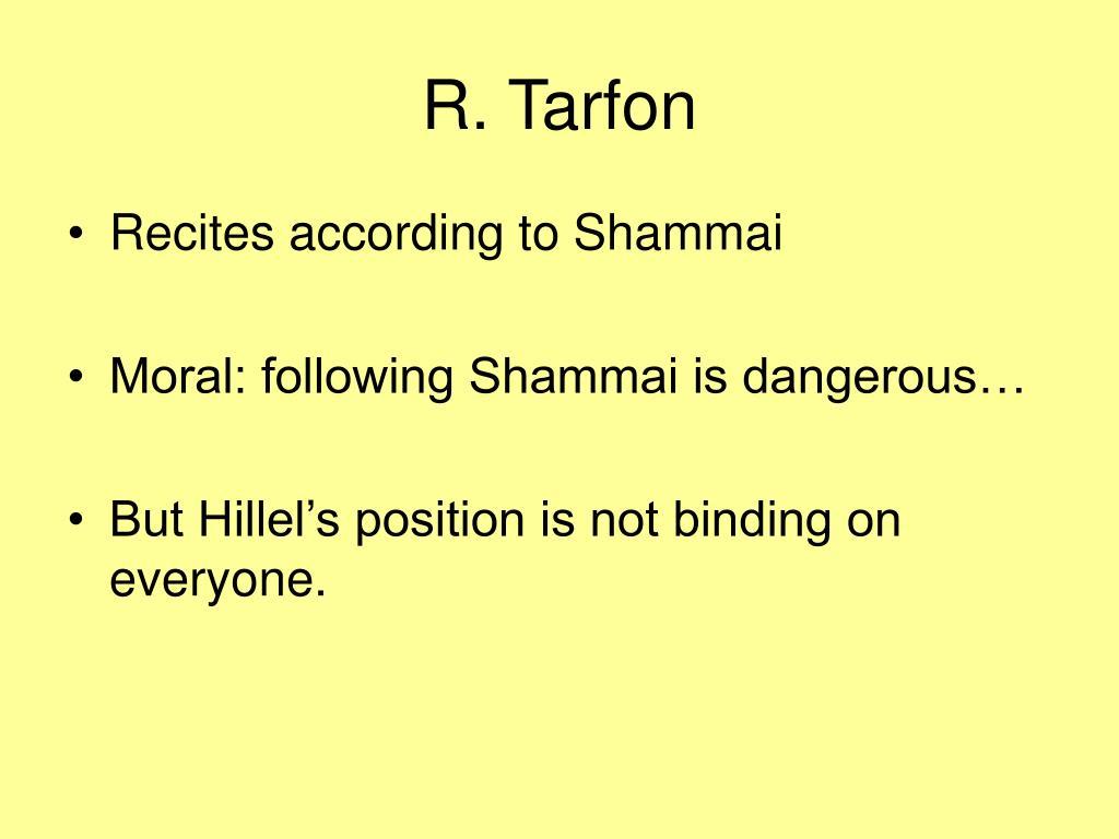 R. Tarfon