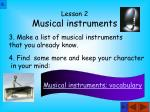 lesson 2 musical instruments