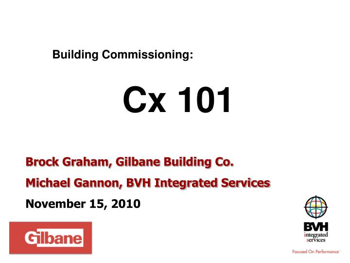 Building Commissioning: