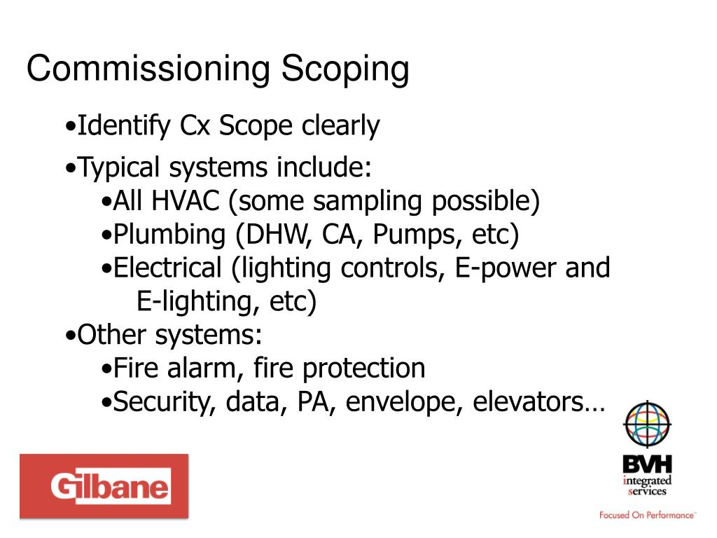 Commissioning Scoping