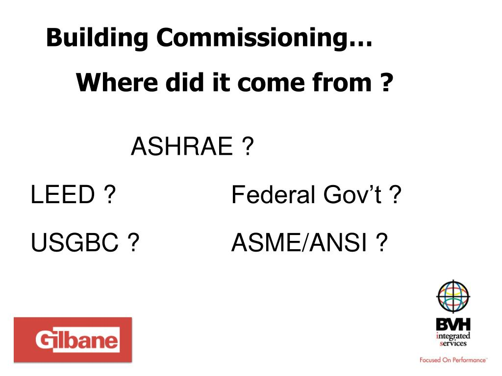 Building Commissioning…