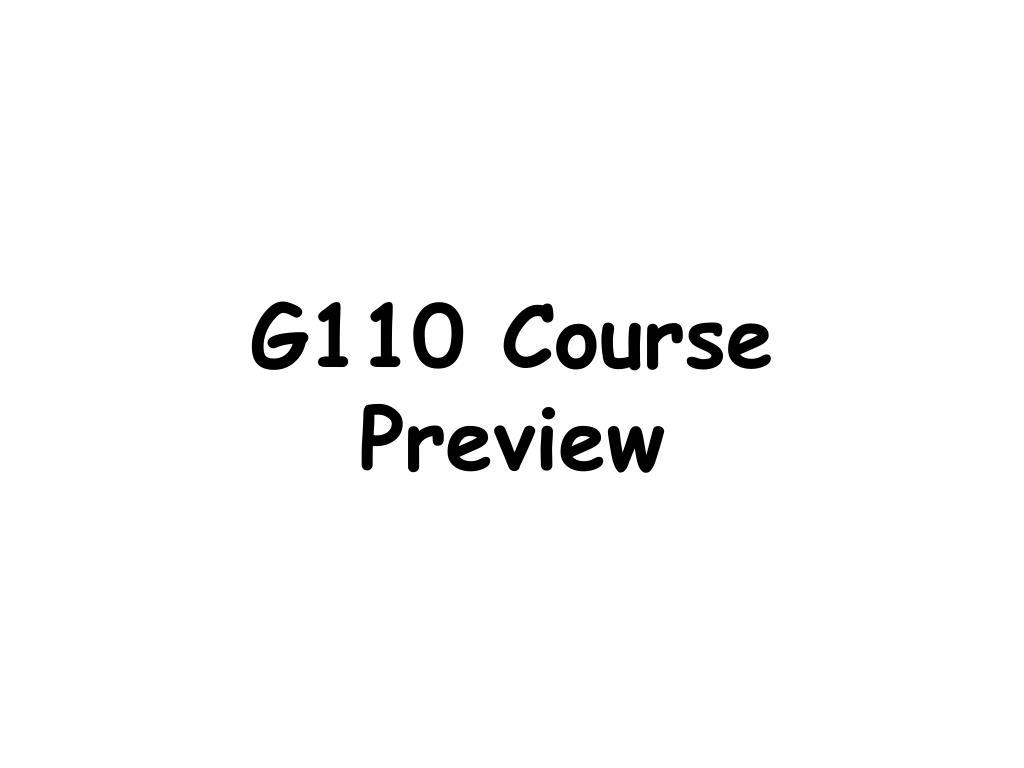 g110 course preview l.