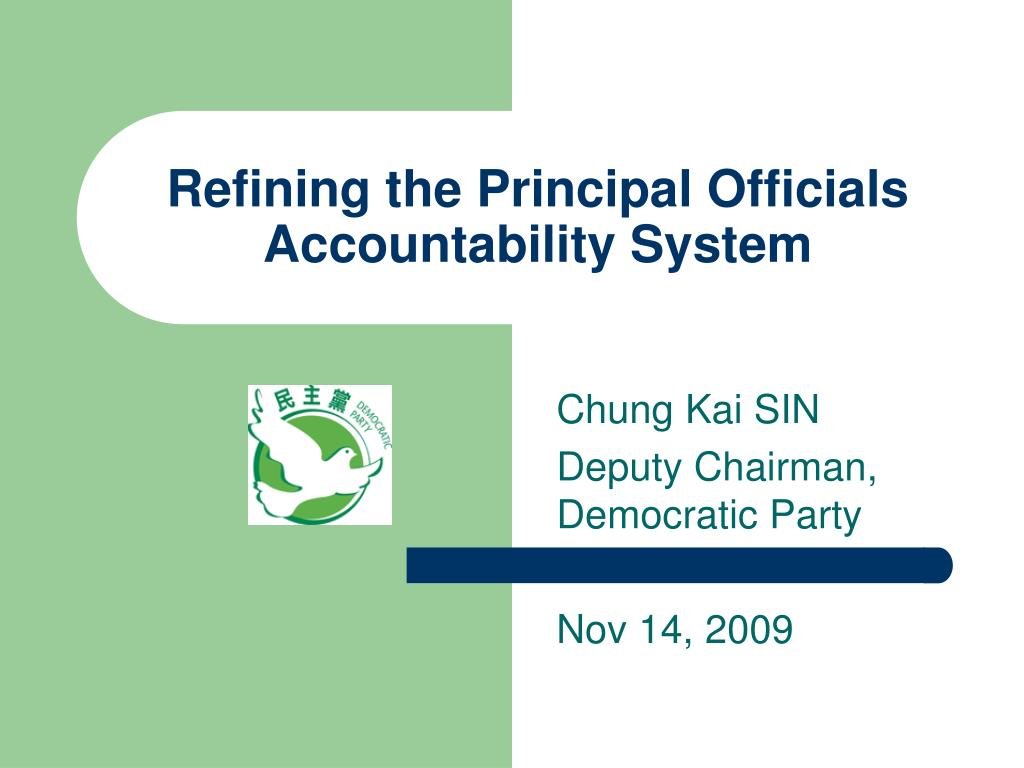 refining the principal officials accountability system l.