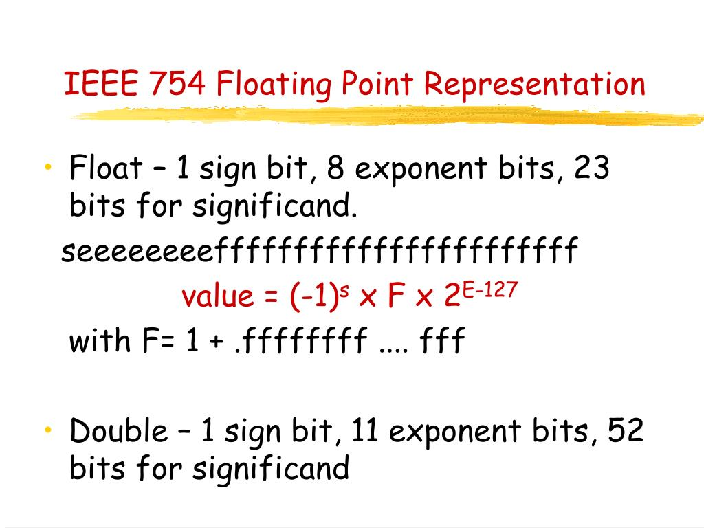IEEE 754 Floating Point Representation