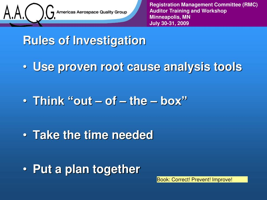 Rules of Investigation