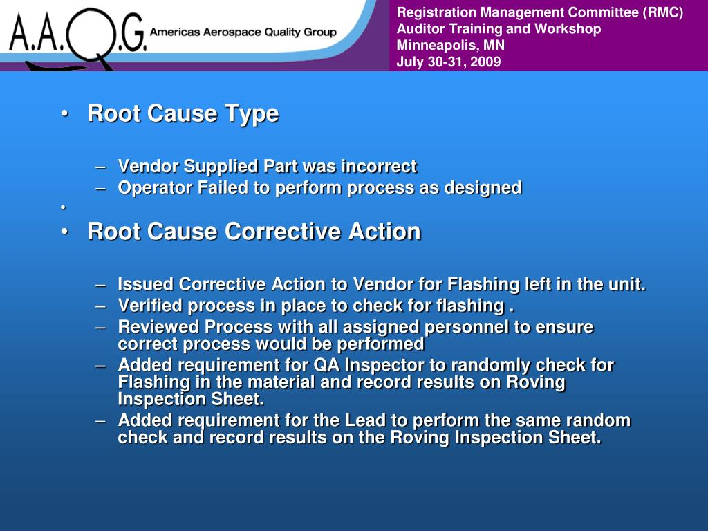 Root Cause Type