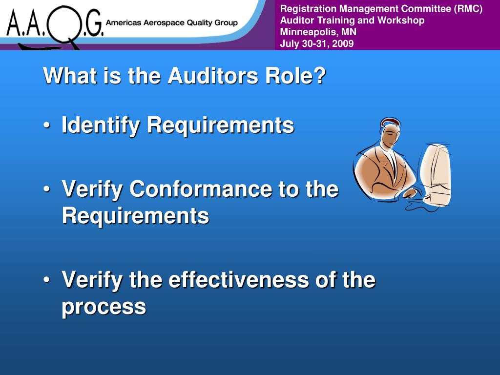 What is the Auditors Role?