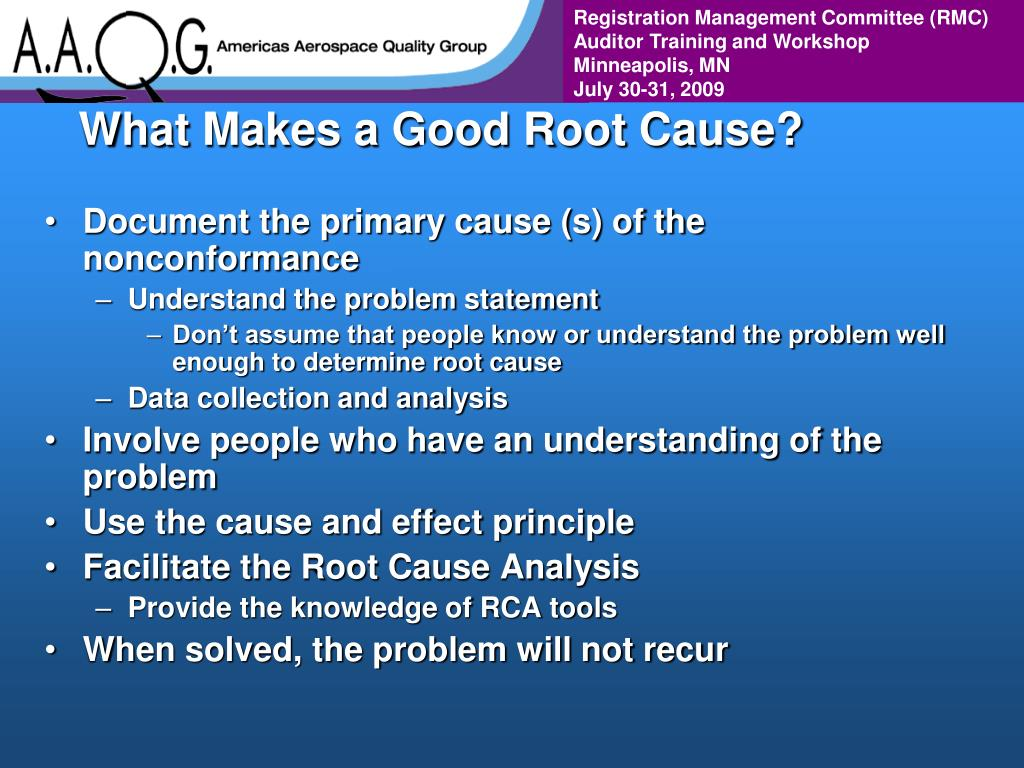 What Makes a Good Root Cause?