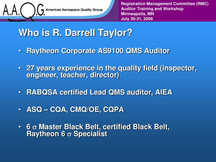Who is r darrell taylor
