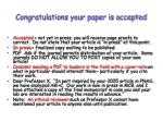 congratulations your paper is accepted