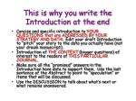 this is why you write the introduction at the end