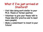 what if i ve just arrived at stanford
