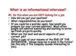 what is an informational interview