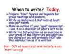 when to write today