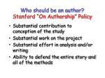who should be an author stanford on authorship policy