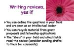 writing reviews yes if