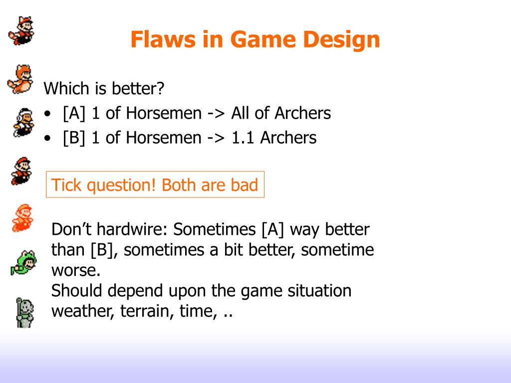 Flaws in Game Design