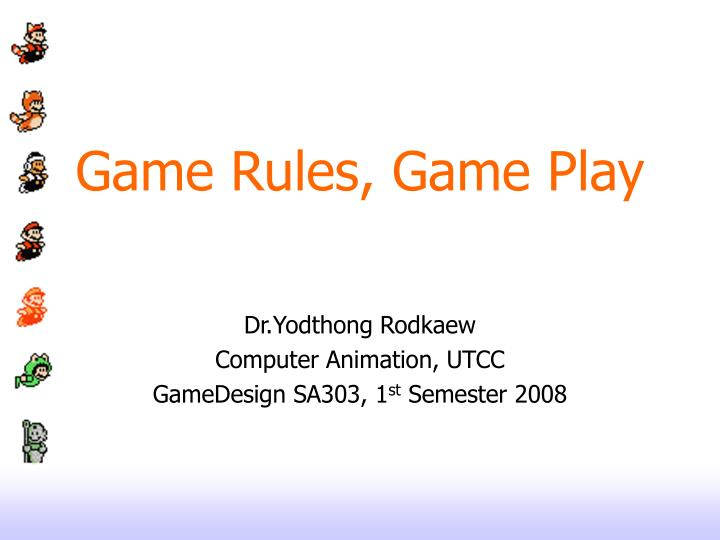 Game rules game play