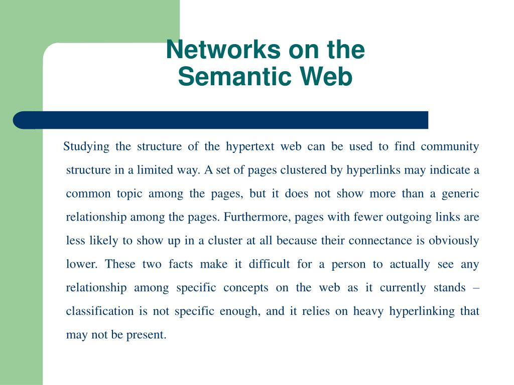 Networks on the Semantic Web
